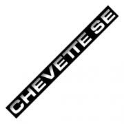Emblema Adesivo - Chavette SE - Chevrolet - Plaquetas p/Frisos - PAR