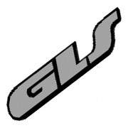 Emblema Adesivo - GLS - VW - Cinza Lixado