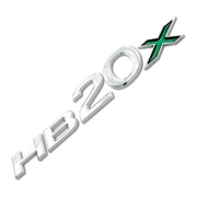 Emblema Adesivo - HB20x - 14/... - Hyundai - Cromado