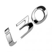 Emblema Adesivo - I30 - 09/... - 115x39mm - Hyundai - Cromado