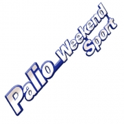 Emblema Adesivo - Palio Weekend Sport - Fiat - Cromado - Fundo Azul