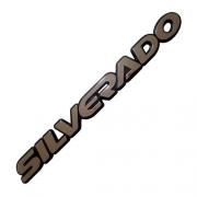 Emblema Adesivo - Silverado - S10, Blazer 97/... - Resinado Cinza