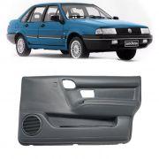 Par de Revestimento Forro de Porta - Dianteiro - Santana 1991 1992 1993 a 1997 1998 - 4 Portas - com tela - Cinza/Preta