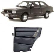 Par de Revestimento Forro de Porta - Traseiro - Santana 1985 1986 1987 a 1996 1997 1998 - 2 Portas - com tela - Preta/Cinza