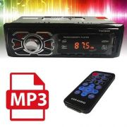 Rádio MP3 Player Automotivo USB SD Card AUX FM WMA RCA