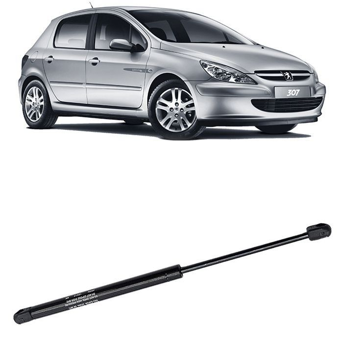 Amortecedor tampa traseira do Porta-Malas - Peugeot 307 - 2002 2003 a 2011 2012