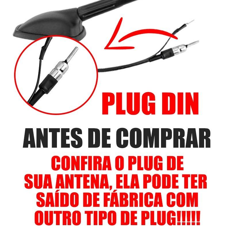 Antena De Teto Agile 2009 2010 2012 2013 2014 2015 Com Cabo Plug Din