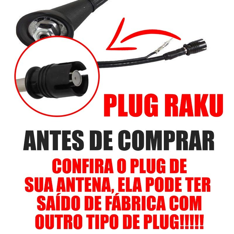 Antena De Teto Celta - 2002 2003 2004 2005 2006 2007 2008 2009 2010 2011 2012 Raku