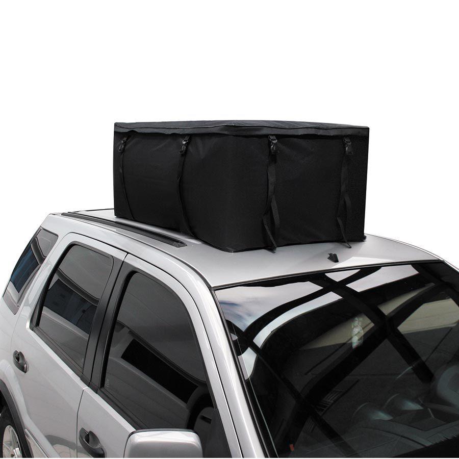 Bagageiro de Teto - Maleiro Resistente  - Mala Dobrável Para Carro - 43 X 72 X 110CM  - 340 LITROS