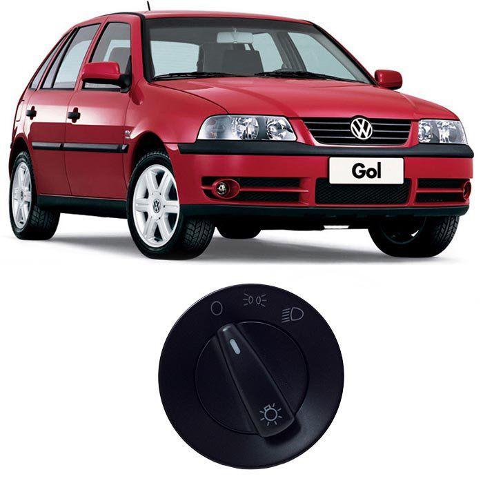 Botão de Farol - Gol, Parati, Saveiro - 2000 2001 2002 2003 2004 2005 2006 - Sem Reostato