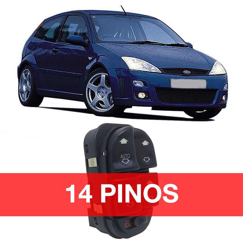 Botão Vidro Elétrico - Focus - 2000 2001 2002 2003 2004 2005 2006 2007 2008 - 14 Pinos