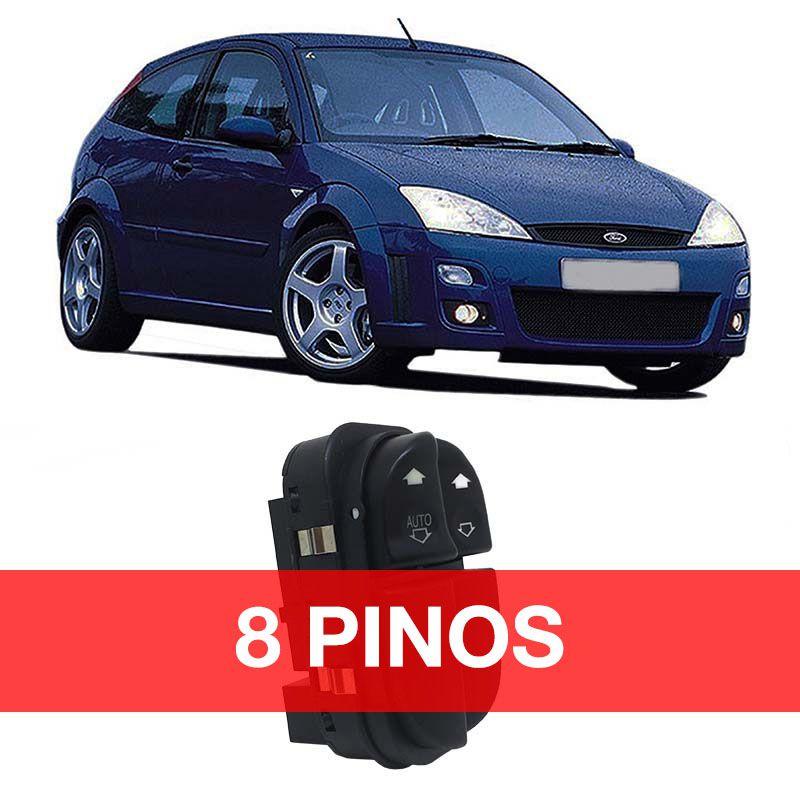 Botão Vidro Elétrico - Focus - 2000 2001 2002 2003 2004 2005 2006 2007 2008 - 8 Pinos