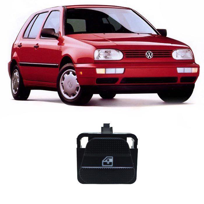 Botão Vidro Elétrico - Golf (GL/GLX/GTI) - 1995 1996 1997 1998 - Dianteiro Direito - Traseiro Esquerdo e Direito