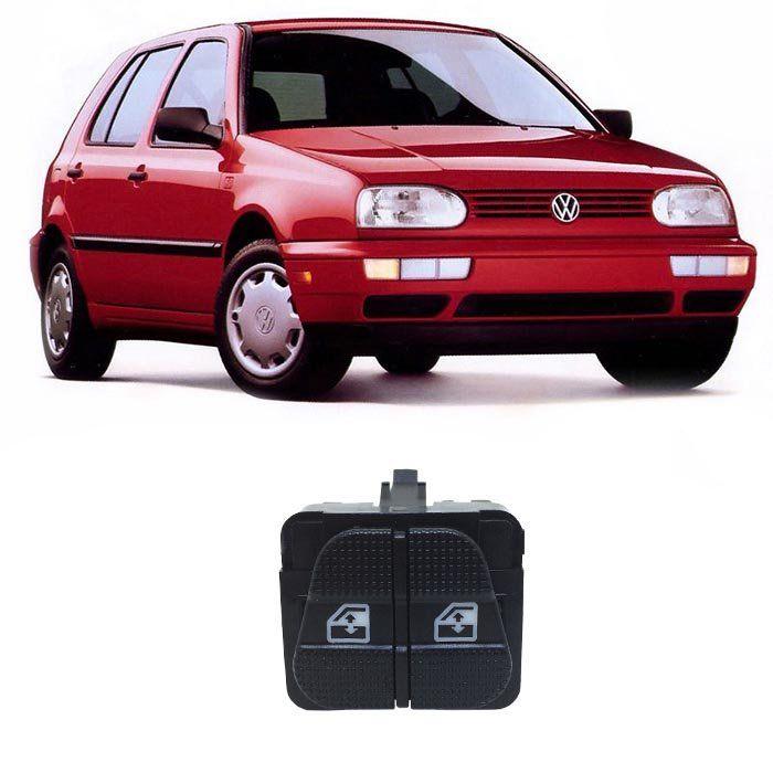 Botão Vidro Elétrico - Golf (GL/GLX/GTI) - 1995 1996 1997 1998 - Dianteiro Esquerdo
