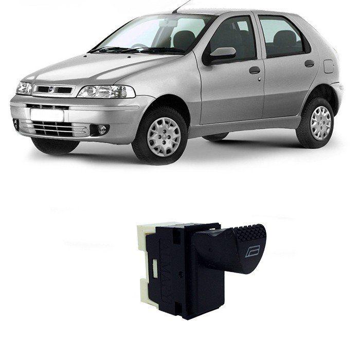 Botão Vidro Elétrico - Palio 2001 2002 2003 - Simples - DE