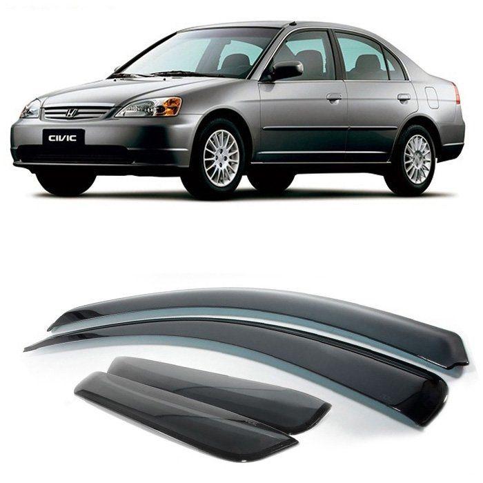 Calha Chuva Defletor Civic 2001 2002 2003 2004 2005 2006