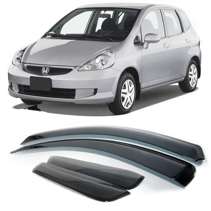 Calha De Chuva Honda Fit 2003 2004 2005 2006 2007 2008 4P