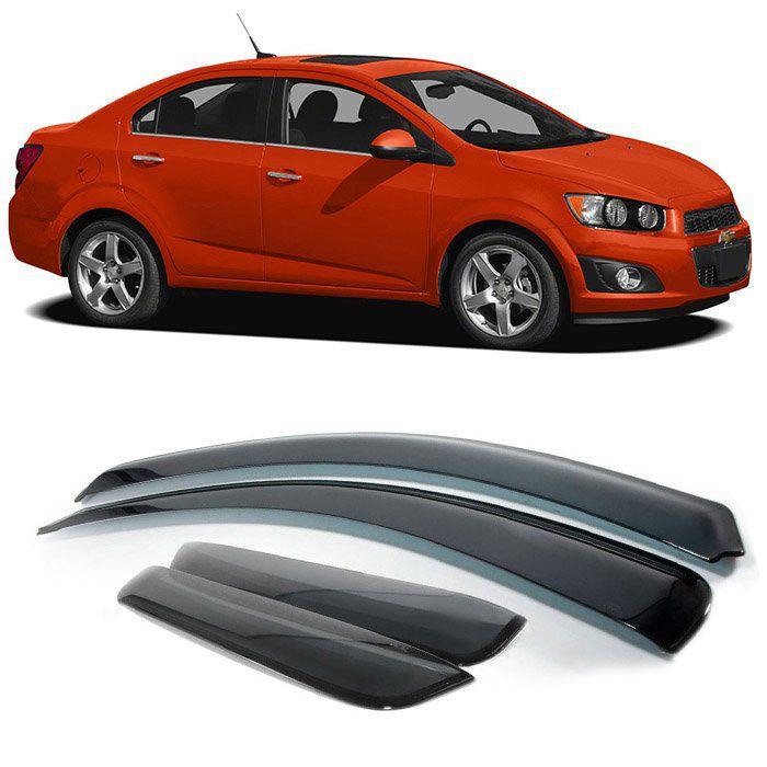Calha Defletor Chuva Sonic Sedan 2011 2012 2013 2014 2015 4P