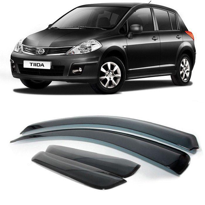 Calha Defletor De Chuva Nissan Tiida Hatch 2008 2009 2010 2011 2012