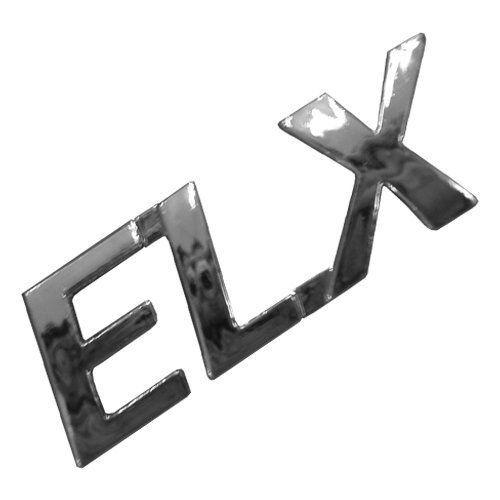 Emblema Adesivo - ELX - Linha Fiat 00/... - Plástico Injetado - Cromado