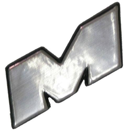 Emblema Adesivo - M - VW - Cinza Aço Escovado
