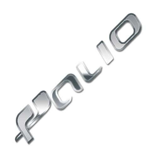 Emblema Adesivo - Palio - Fiat - Cromado