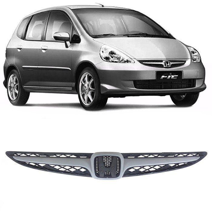 Grade Tela E Friso Primer Radiador Honda Fit 2007 E 2008