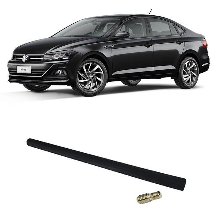 Haste da Antena de Teto - VW Virtus 2018 2019 - Voyage 2008 2009 a 2018 2019, Up! 2014 a 2019 - Rosca 5 e 6 mm - Haste 20cm