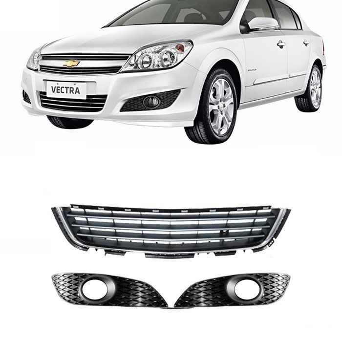 Kit Grades Para-choque Vectra - 2010 2011 2012