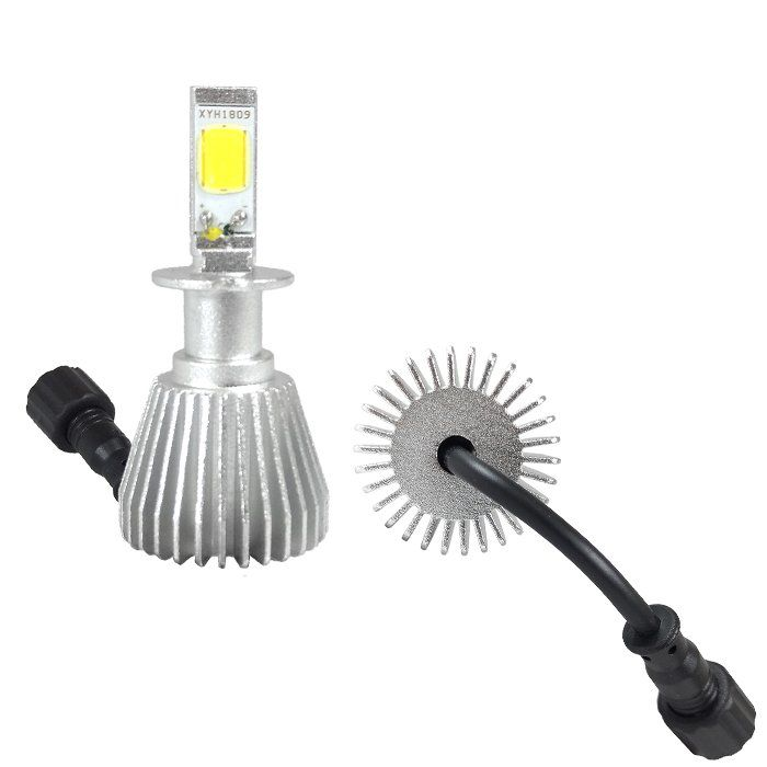 Kit Super Led Lâmpada H3 6000k Super Branca Efeito Xenon