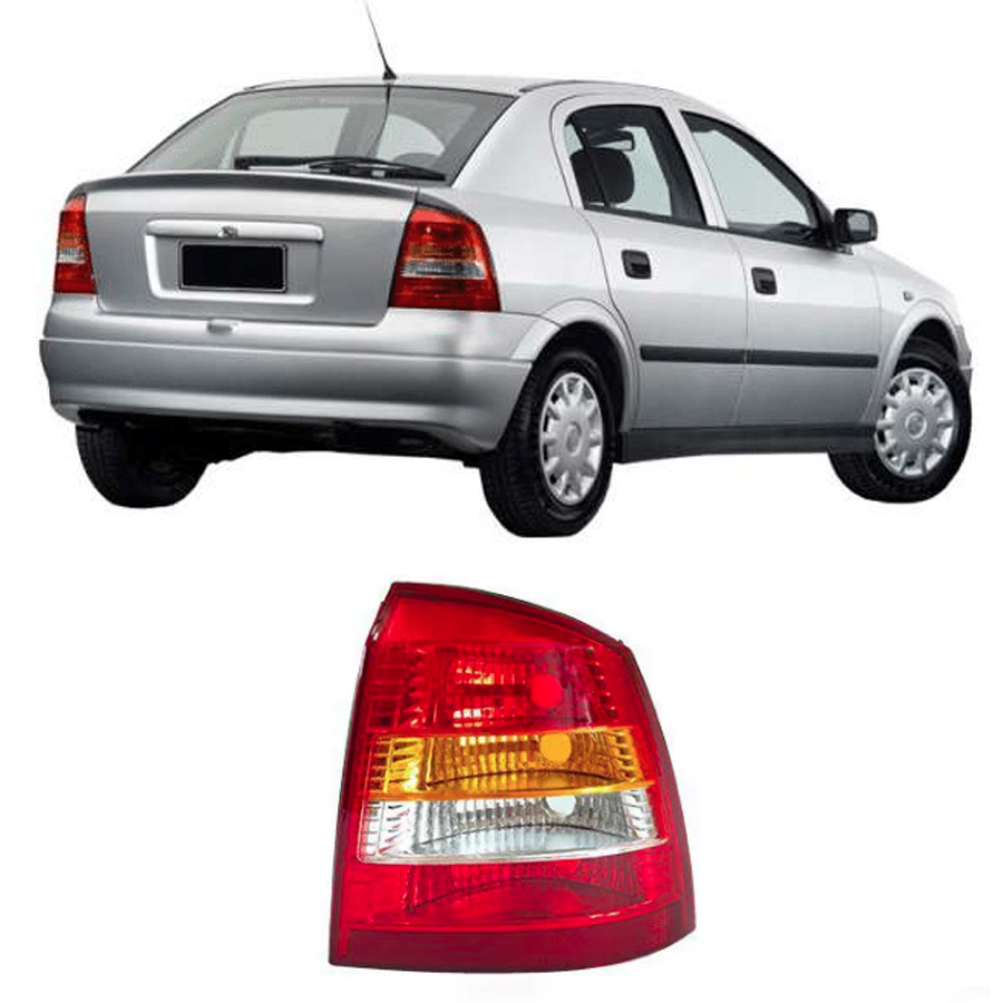 Lanterna Traseira Astra Hatch 1998 1999 2000 2001 2002 - Tricolor