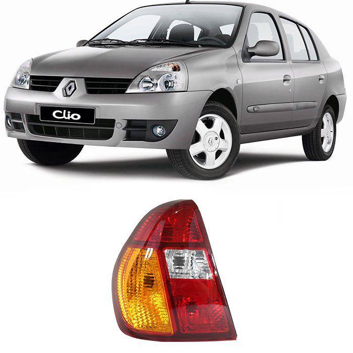 Lanterna Traseira Clio Sedan 2000 2001 2002 2003 2004 - Tricolor