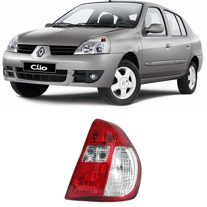 Lanterna Traseira Clio Sedan 2000 2001 2002 2003 2004 - Bicolor