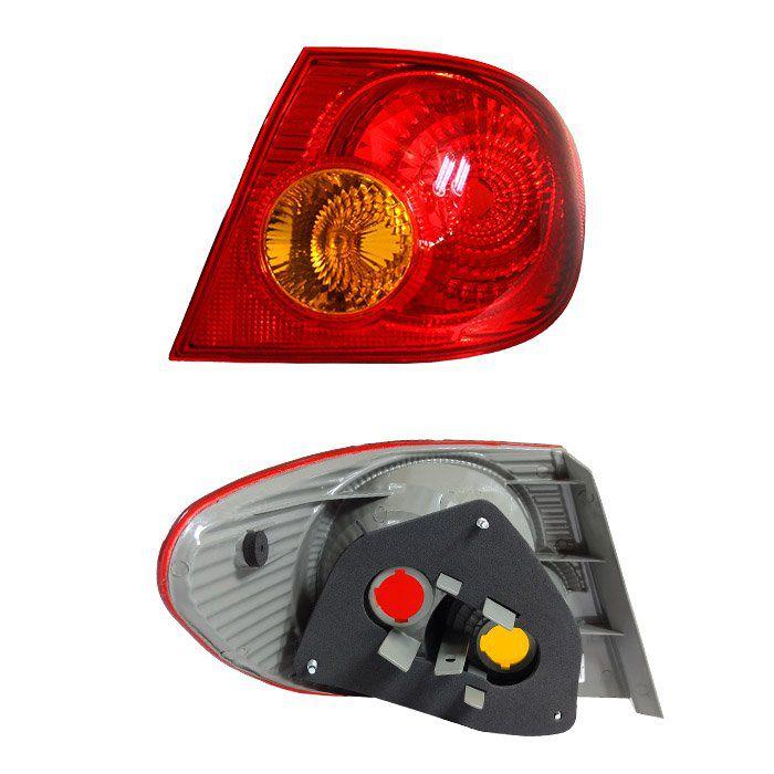 Lanterna Traseira Corolla 2002 2003 2004 2005 2006 2007 - Bicolor - Seta Âmbar