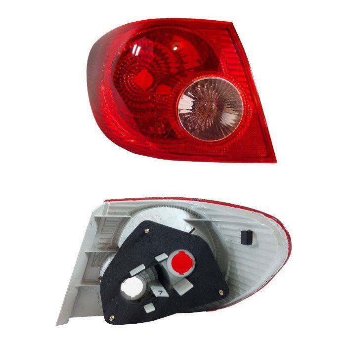 Lanterna Traseira Corolla 2002 2003 2004 2005 2006 2007 - Bicolor - Seta Rosada
