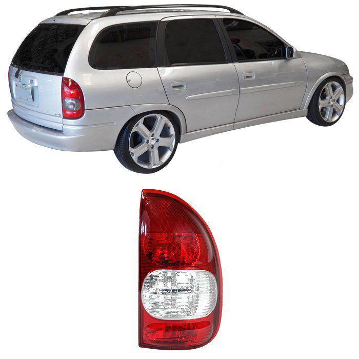 Lanterna Traseira Corsa Wagon e Pick-Up 2000 2001 2002 2003 - Bicolor - Ré Cristal