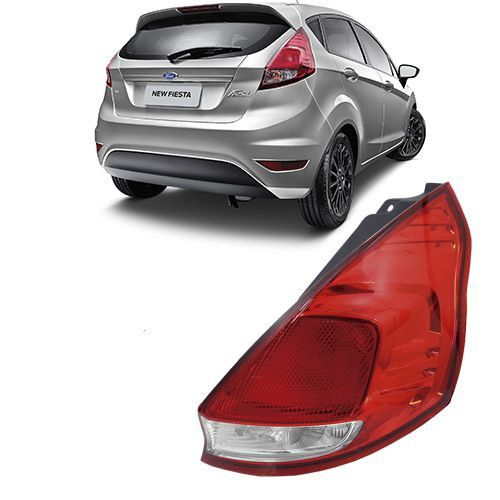 Lanterna Traseira Original New Fiesta Hatch - 2012 2013 2014 2015 2016 2017 - Bicolor