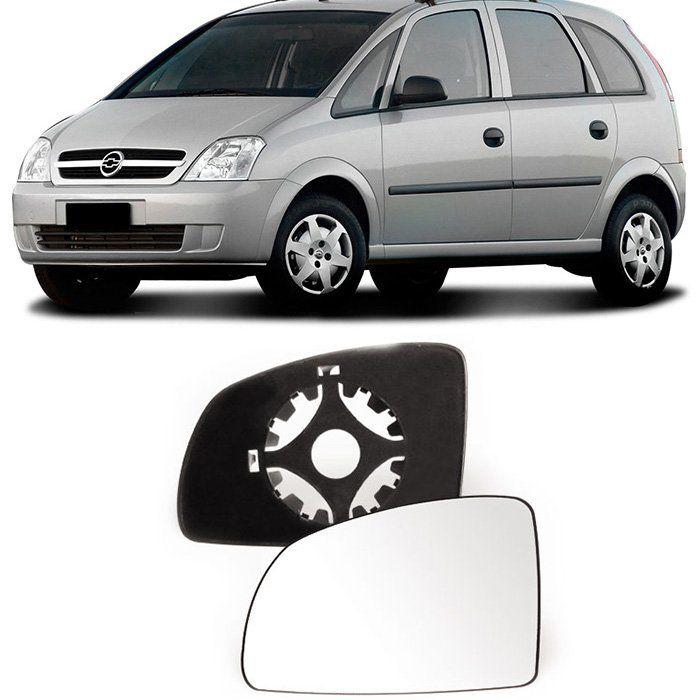 Lente Espelho Retrovisor Meriva 2003 a 2008 Celta Prisma 2011 a 2015 - Subconjunto