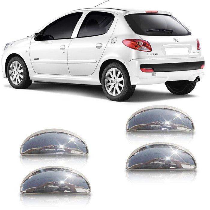 Par Aplique Cromado Maçaneta Peugeot 206/207 4 Portas