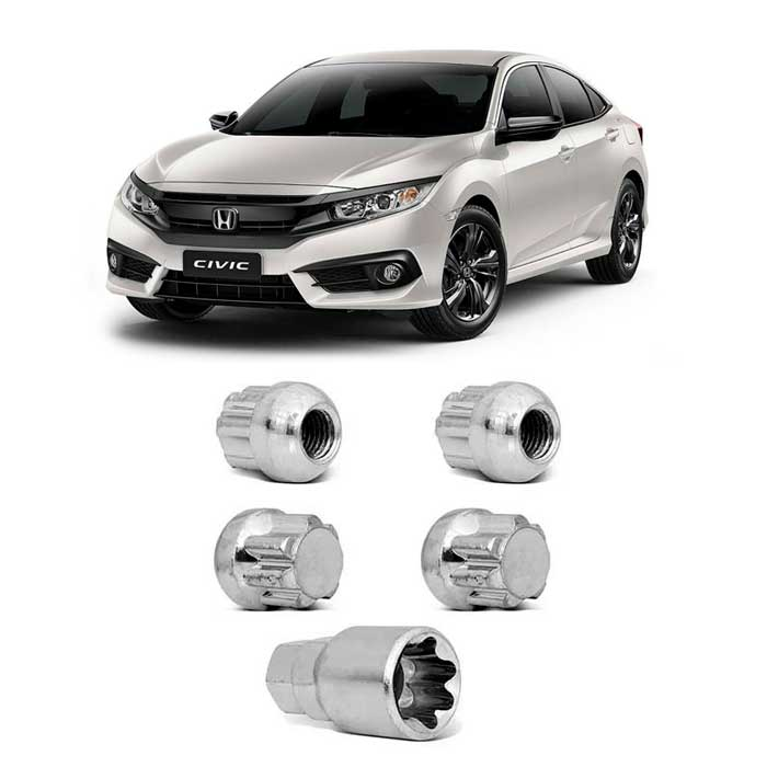 Porcas Anti-Furto - Civic, Accord, CR-V