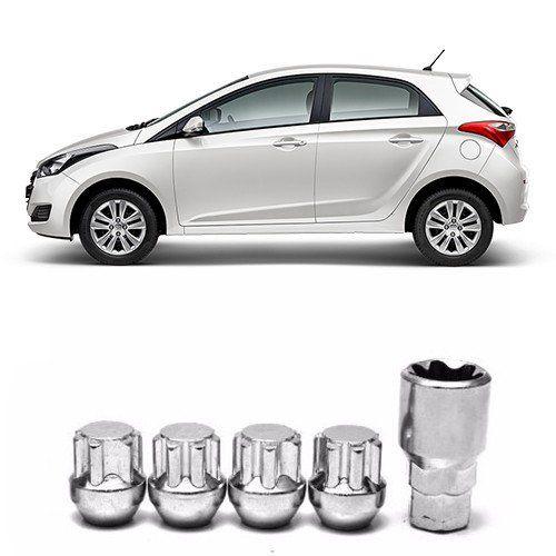 Porcas para Rodas Anti Furto Hyundai HB20 2012 2013 a 2018 2019
