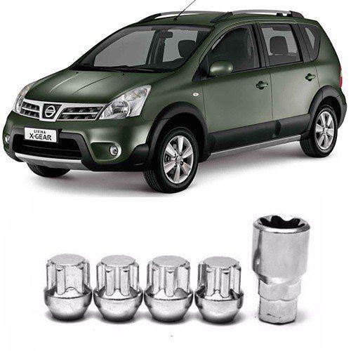 Porcas para Rodas Anti Furto Nissan Livina 2010 2011 2012 2013 2014