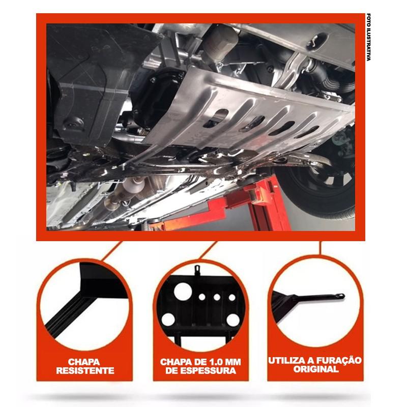 Protetor De Carter Peugeot 208 - (Active / Pack / Allure / Sport) - (1.2 / 1.6) - 2014 2015 2016 2017 2018 2019