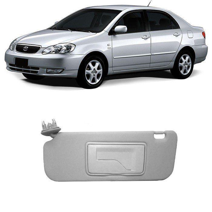 Quebra-Sol Corolla - 2002 2003 2004 2005 2006 2007 2008 - Com Espelho