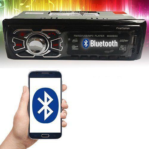 Rádio MP3 Player Automotivo USB SD Card AUX FM WMA RCA com Bluetooth