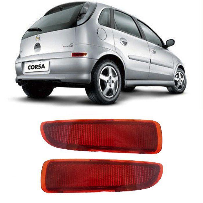 Refletor Parachoque Corsa 2003 2004 2005 2006 2007 2008 2010 2011 2012- Par