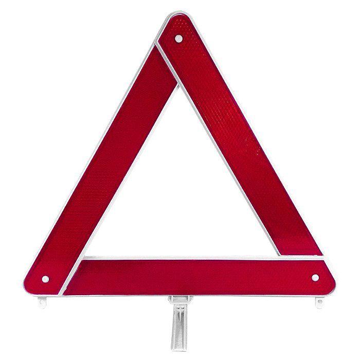 Triângulo De Advertência - Base Branca