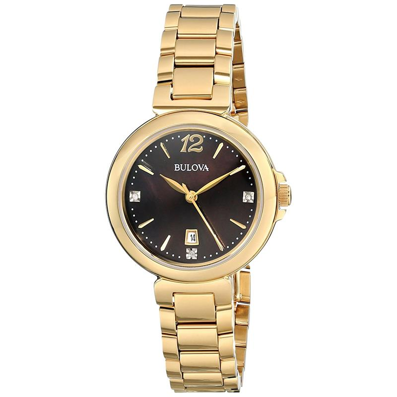 6e89da7915b Relógio Bulova Feminino Ref  Wb27903r Diamante Dourado - Relógios Web Shop  ...