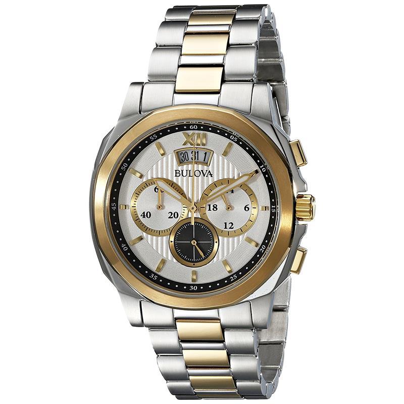 c35668735f0 Relógio Bulova Masculino Ref  Wb30865s Cronógrafo Bicolor - Relógios Web  Shop ...
