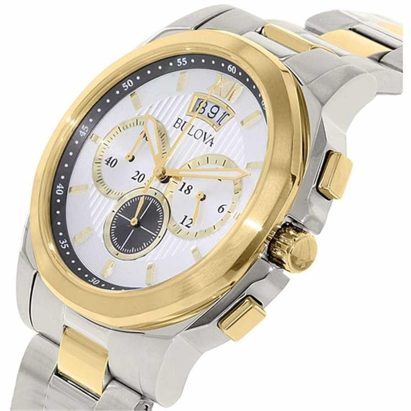 2a8ec1eafea ... Relógio Bulova Masculino Ref  Wb30865s Cronógrafo Bicolor - Relógios  Web Shop ...